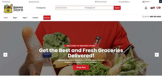 Food Grocery Store WordPress Theme