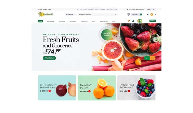 Online Grocery Mart WordPress Themes