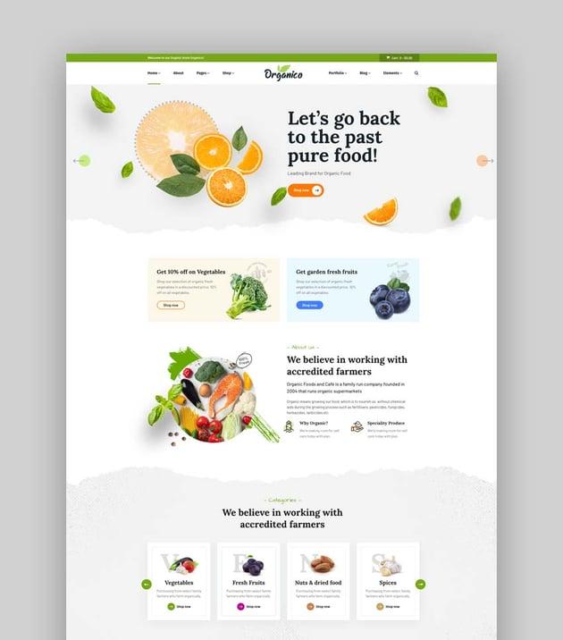 Organio Organic Food Store WordPress Theme