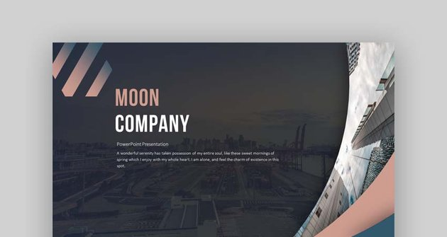 Moon Company PowerPoint Template