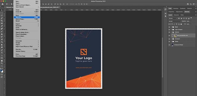 Exporting your business card