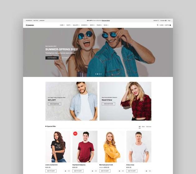 eCommerce Bootstrap 5 Template - Comero