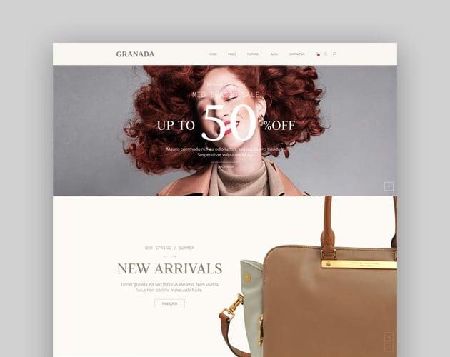 Granada - Premium Bootstrap eCommerce Template