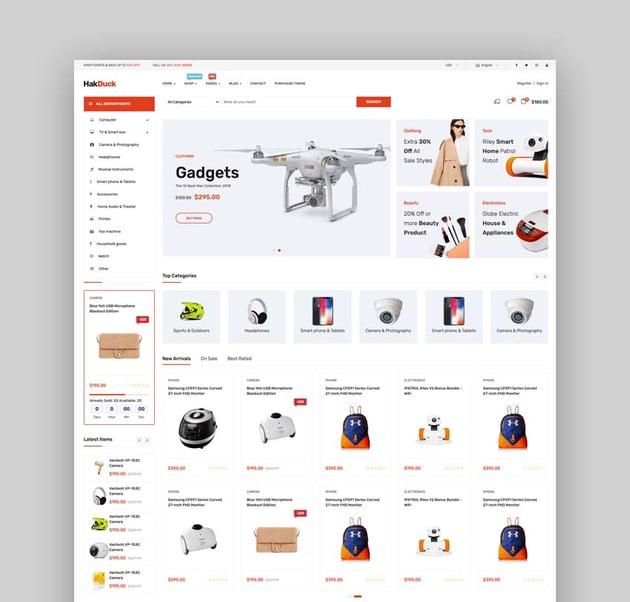 HakDuck - Electronics Bootstrap 4 eCommerce Template