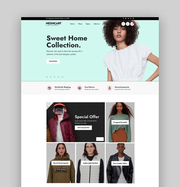 NeonCart - Multipurpose Ecommerce Bootstrap 5 & 4 HTML Template