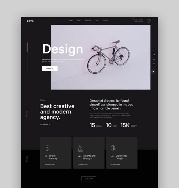 Borne - Agency portfolio Bootstrap 5 Template