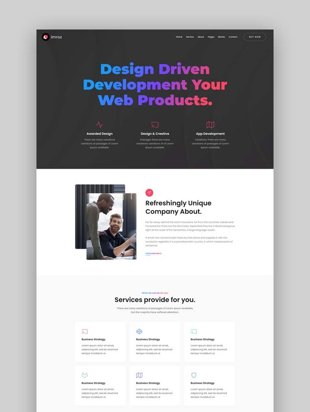 Imroz - Creative Agency and Portfolio Bootstrap Template