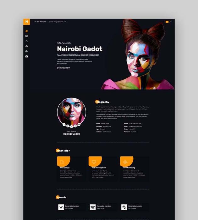 Nairo – Bootstrap 4 Personal Portfolio