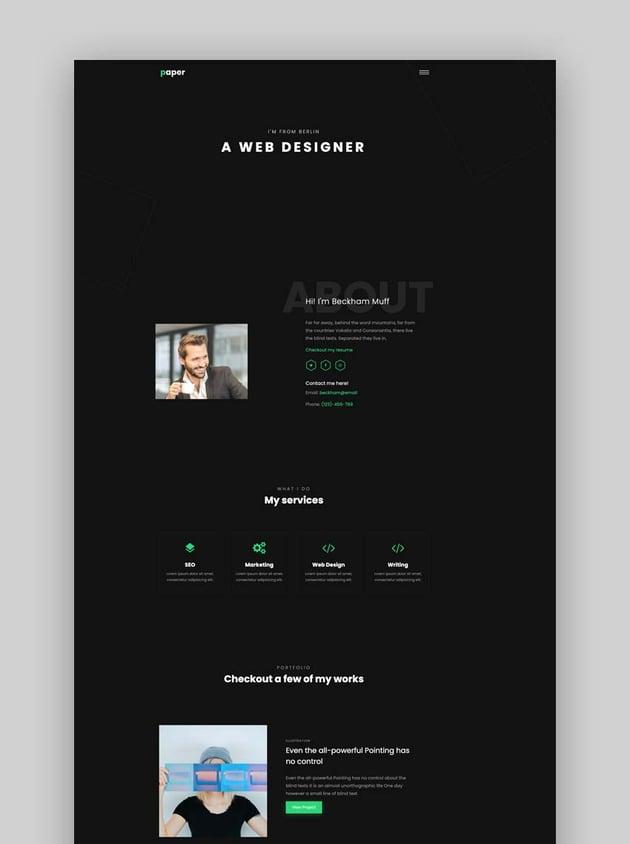 Paper - Personal Bootstrap Portfolio Template