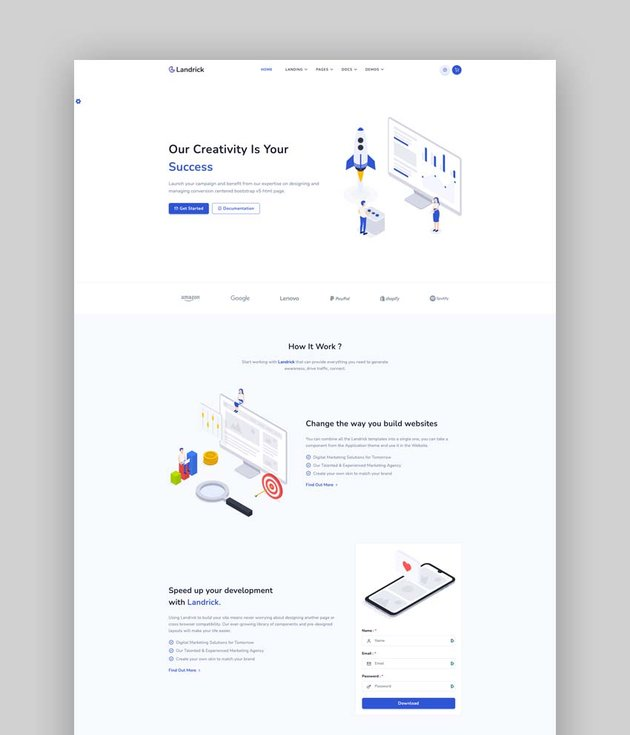 Landrick - Saas & Software Bootstrap 5 Landing Page Template
