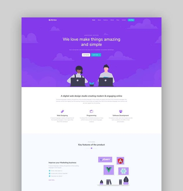 Peyso - Bootstrap 5 Landing Page Template