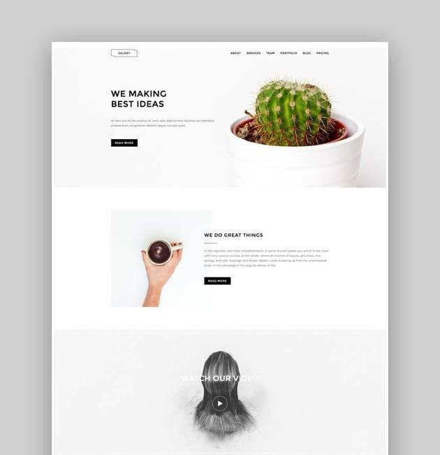 Valery- Responsive Multipurpose Bootstrap Landing Page