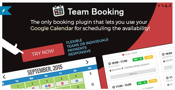 Team Booking - WordPress Booking System