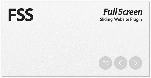 FSS - Full Screen Sliding Website Plugin
