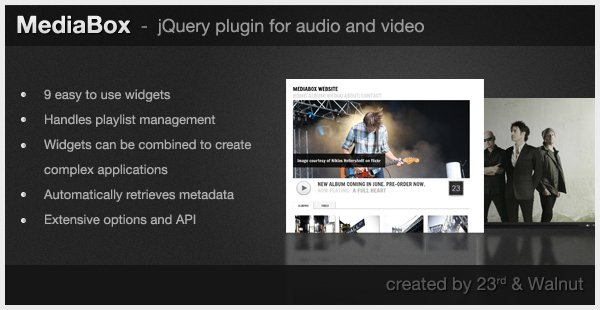 MediaBox - jQuery Plugin for Audio Video