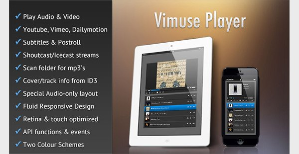 Vimuse - HTML5 Media Player