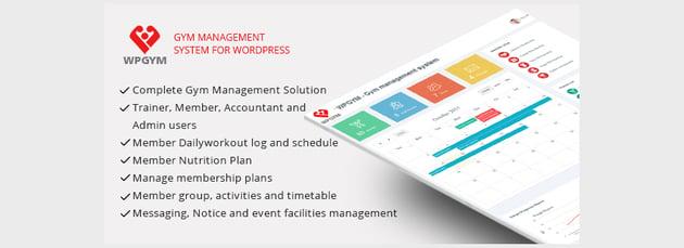 WPGYM - Wordpress Gym Management System