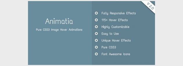 Animatia - CSS Image Hover Effects