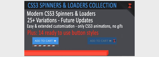 CSS3 Spinners Loaders