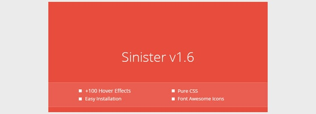 Sinister - Pure CSS Image Hover Effects