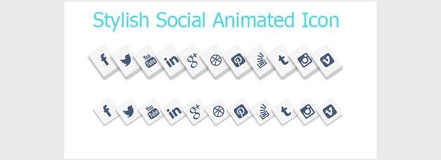 Stylish Social Media Animated Icons Style