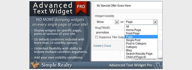 Advanced Text Widget Pro