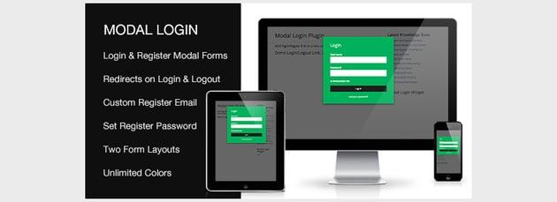 Modal Login Register Forgotten WordPress Plugin