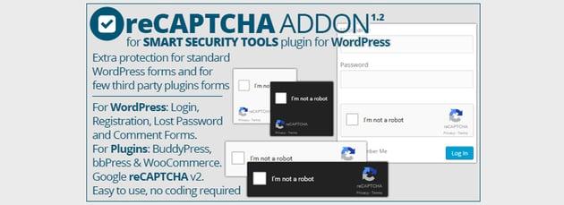 Smart Security Tools reCAPTCHA Addon