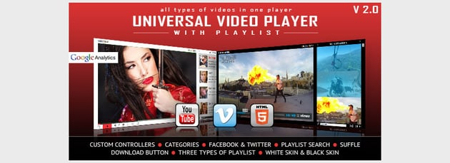 Universal Video Player - YouTubeVimeoSelf-Hosted