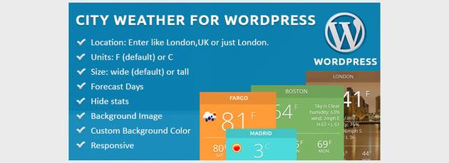 City Weather for WordPress