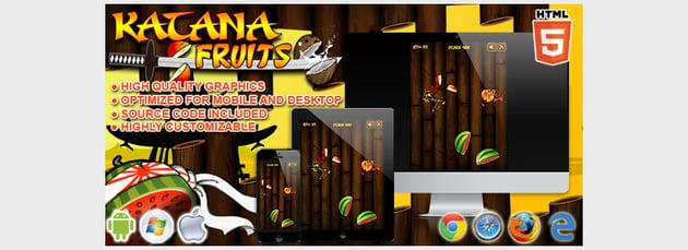 Katana Fruits - HTML5 Game