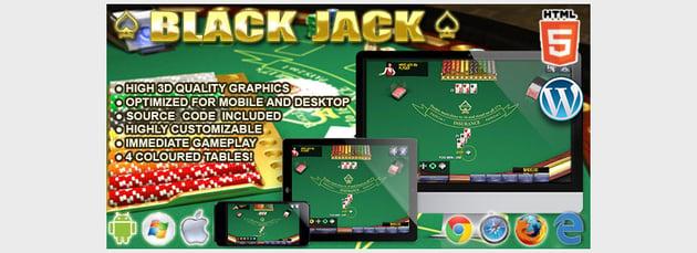 HTML5 3D BlackJack - HTML5 Casino Game
