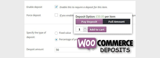 WooCommerce Deposits - Partial Payments Plugin