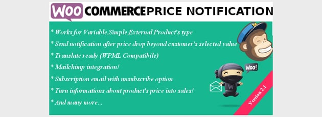 WooCommerce Price Notification