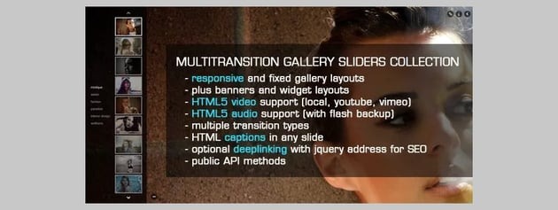 jQuery Multi-transition Gallery