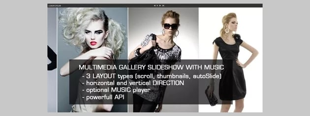 jQuery Multimedia Gallery Slideshow
