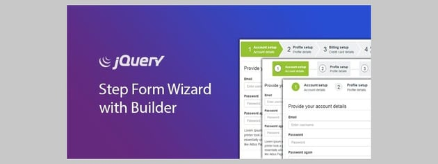 jQuery Step Wizard with Step Form Builder