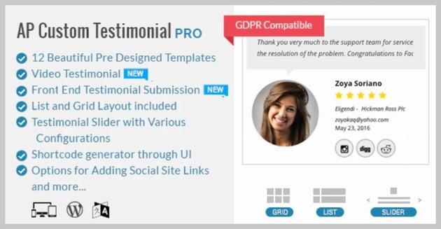 AP Custom Testimonial Pro