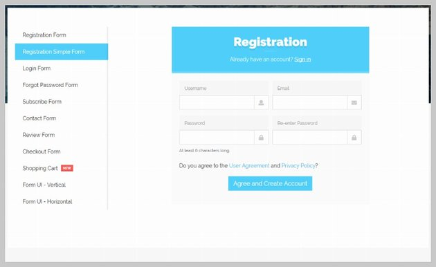 Flatform with Bootstrap 4