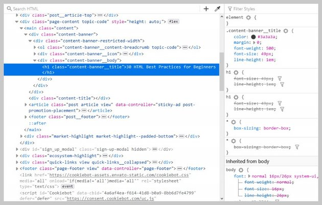 Browser Developer Tools