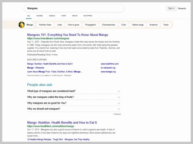 Zenscrape Bing SERP Visual