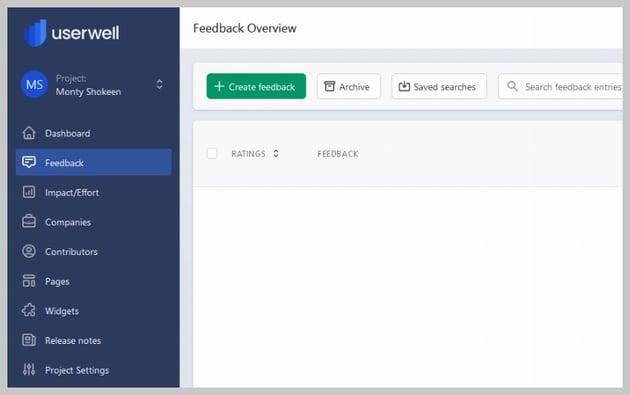 Userwell Create Feedback