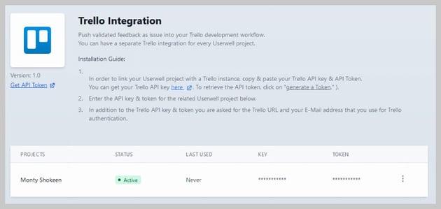 Userwell Trello Integration