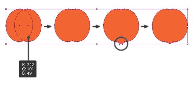 creating the main peach shape