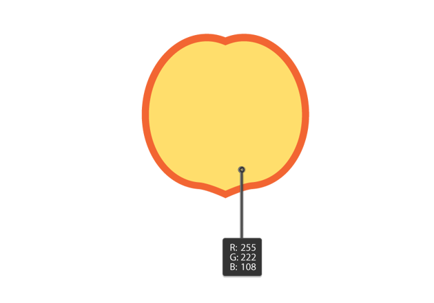 creating the half of the peach