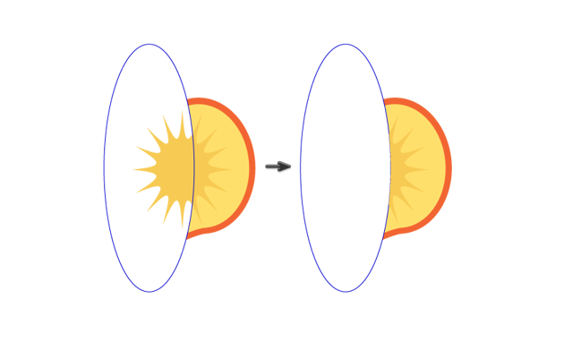 creating the slice of the peach 3