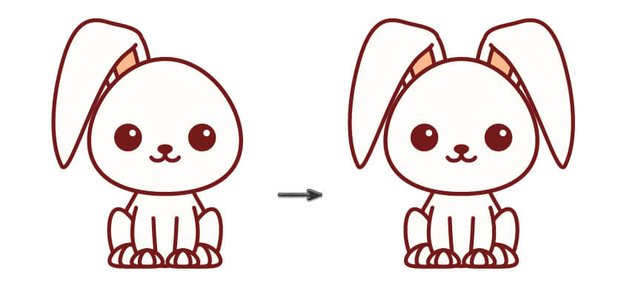 creating the bunny second ear