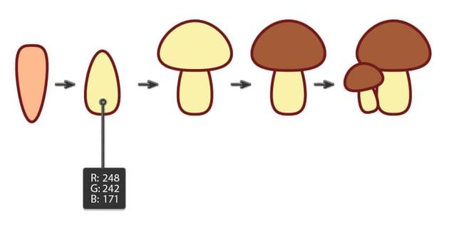 creating the mushroom