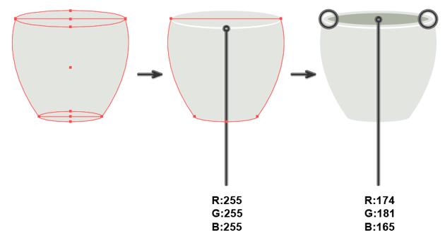 creating the flower pot base 2