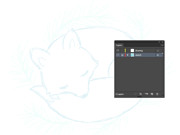creating the new layer for outlining